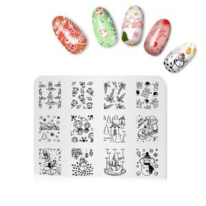 Accessories - Christmas Design Print Stencil Nail Art Stamping